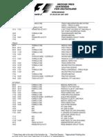 2011 F1 German Grand Prix Timetable (Draft)
