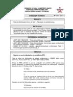 PT 003-2010 Rede de Distribuição Interna de GLP