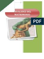 Invalidez Del Matrimonio