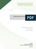 Oakdene Lanthanide Resources and Alternatives