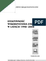 PUBL Se Efektywnosc Wykorzystania Energii 1998-2008