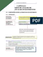 Análise de Alternativas de Investimentos - Métodos