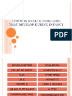 Common Health Problems - Infancy