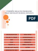 Common Health Problems - Infancy