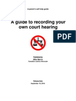 Article Recording Your Own Court Hearing Ontario