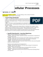 ths biology 2011 2012 cells and cellular processes unit plans