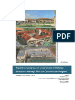 Department of Defense Report on Military Base School Construction