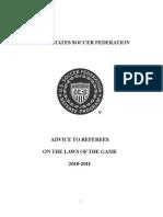 Advice to Referees English 10-11