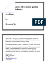 Scientific Names of Common Garden Plants in Malaysia by Kenneth Ng