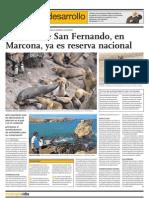 La bahía de San Fernado, en Marcona, ya es reserva nacional