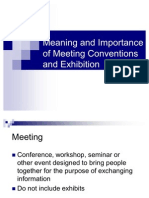 Events and Convention Management