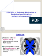 Principle of Radiation-Mechanism of Radiation From Thin Wires