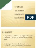 3.3 Sinonimos Antonimos Homonimos y Paronimos