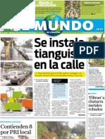Portada El Mundo de Córdoba, lunes 18