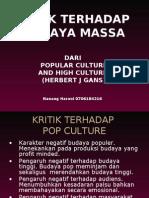 kritik budaya massa