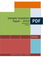 Term 1 Sample Paper-
