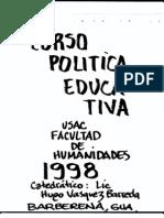 curso politica educativa 00