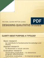 designing qualitative studies