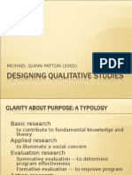 designing qualitative studies