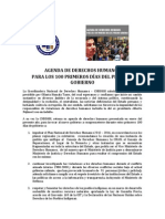 Agenda de Derechos Humanos para los 100 primeros días del próximo Gobierno