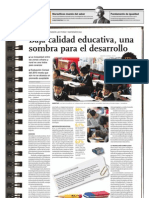 Baja Calidad Educativa Una Sombra Para El Desarrollo