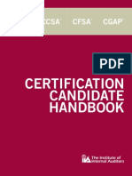 CIA Cfsa Ccsa Cgap Handbook
