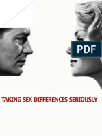 Taking Sex Differences Seriously