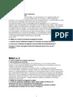 Franceza - Subiecte BAC 2009