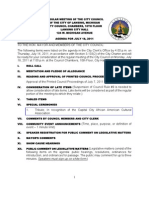 Lansing (MI) City Council info packet for Monday's July 18 meeting