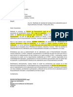 Carta Intención Laboratorios