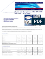 Fluoropolimeros - Pfa - Etfe - Pvdf - Pvdf Flex y Fep - Venta - Distribucion - Aplicacion - En Mexico