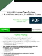 Community Social Media Study