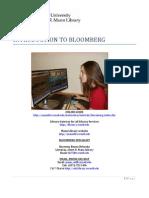 Bloomberg Workshop Handout