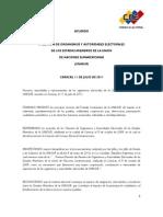 ACUERDO CNE - UNASUR
