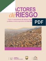 Factores de riesgo frente a la ocurrencia de abuso sexual a niñas y niños en barrios tugurizados de Lima Metropolitana