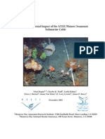 Environmental Impact of the ATOC / Pioneer Seamount Submarine Cable