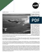 NASA Facts Solar-Power Research at Dryden