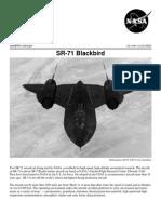 NASA Facts SR-71 Blackbird 1998
