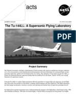 NASA Facts Tu-144LL a Supersonic Flying Laboratory 1999