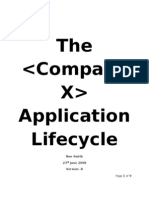 The X Company Application Lifecycle