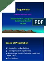 Ergonomics DOSH