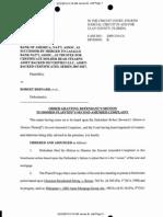 BOA v Bernard -- Judge Wilkes Order
