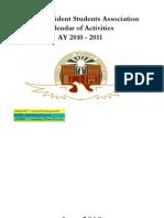 ARSA 2010 2011 Calendar