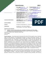 Chem2LA3 Outline 2009-10