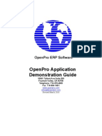 OpenPro Application Demonstration Guide