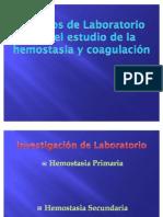 Métodos de Laboratorio para el estudio de la Hemostasia