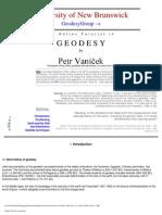 Vanicek Tutorial in Geodesy 2001 ,University of New Brunswick