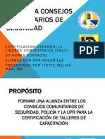 Proyecto Piloto Academia Consejos Vecinales de Seguridad