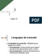 Clase 14 - Lenguajes de Consulta