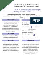 Correlação entre PCR e Fibrinogênio na infecção pelo T. cruzi